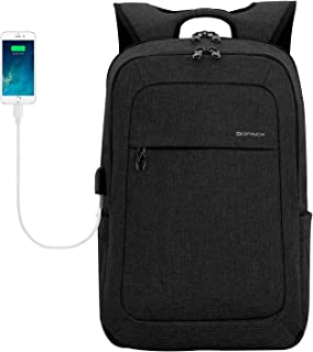 kopack Lightweight Laptop Backpack USB Port Water Resistant 15.6 Inch Business Slim Back Pack Travel Bag