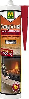 FUEGO NET Fuegonet 231194 Masilla Refractaria, Negro, 3x5x23 cm