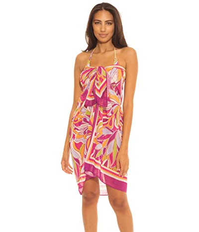 BECCA by Rebecca Virtue Psychedelica Sheer Woven Sarong Cover-Up