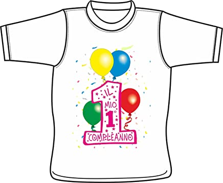 eacbc1d4f1c46d Centro Stampa Brianza Maglietta Bimbo Bimba Spiritosa - Il Mio Primo  Compleanno