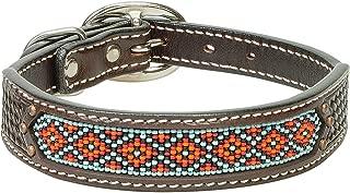 Weaver Leather Beaded Basket Weave Dog Collar