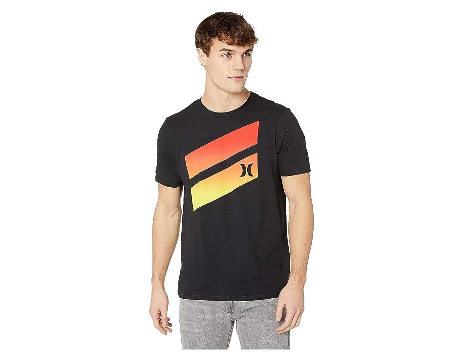 Hurley Premium Icon Slash Gradient Tee (Black) Men's Swimwear