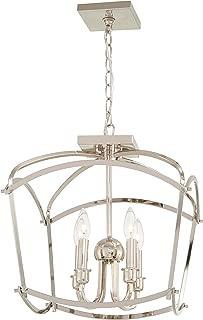 Minka Lavery Pendant Lantern Ceiling Lighting 4773-613 Jupiter's Canopy, 4-Light 240 Watts, Polished Nickel