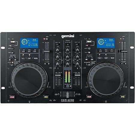 GEMINI MP3 / CD DJ ワークステーション デュアルCDJ PLAYER+MIXER CDM-4000