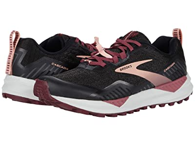 Brooks Cascadia 15 (Black/Ebony/Coral Cloud) Women