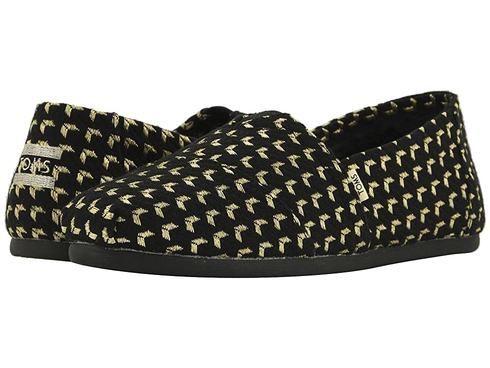 TOMS Alpargata (Black/Gold Geo Woven (Vegan)) Women