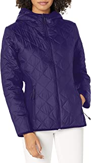 Skechers Women's Classic Quilted Full Zip Hooded Winter Puffer Jacket