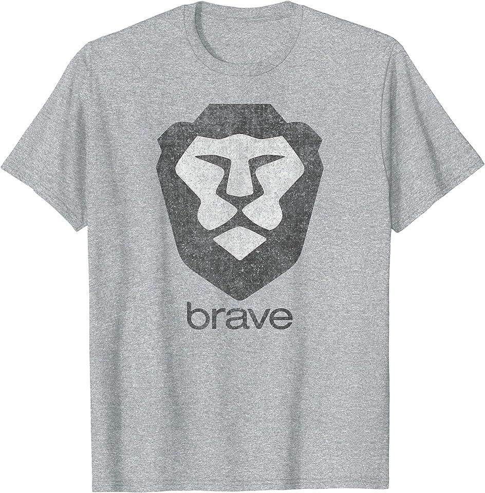 Brave Browser, Basic Attention Token BAT Crypto Wallet, Lion T-Shirt