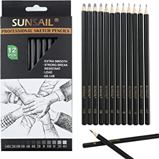 12Pcs 14B-4H Sketch Pencils for Drawing,Art Pencils,Graphite Pencils,Shading Pencil for Sketching
