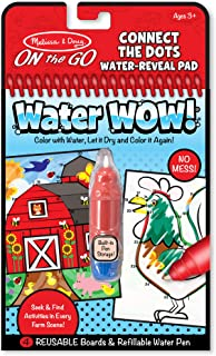 Melissa & Doug 9485 On The Go Water Wow! Connect The Dots Water Reveal Pad, 4 Boards