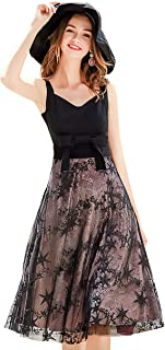 Juan LLC Women Cocktail Evening Party Dress Black