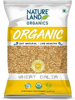 Natureland Organics Wheat Dalia (Porridge) 500 Gm - Organic Dalia