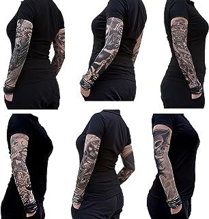 Oblique-Unique® Nylon Tattoo Ärmel - Totenkopf - Skull - E