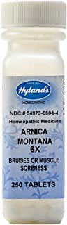 Hyland's Arnica Tablets, Arnica Montana 6x Natural Homeopathic Relief of Bruises and Muscle Soreness, 250 Count