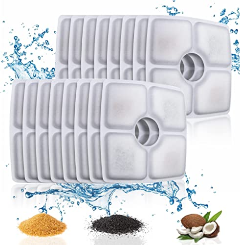 ITidyHome 16-Pack Replacement Filters for 84oz/2.5L Automatic Pet Fountain Cat Water Fountain Dog Water Dispenser