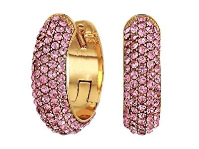 Kate Spade New York Candy Drops Pave Huggies Earrings (Pink) Earring