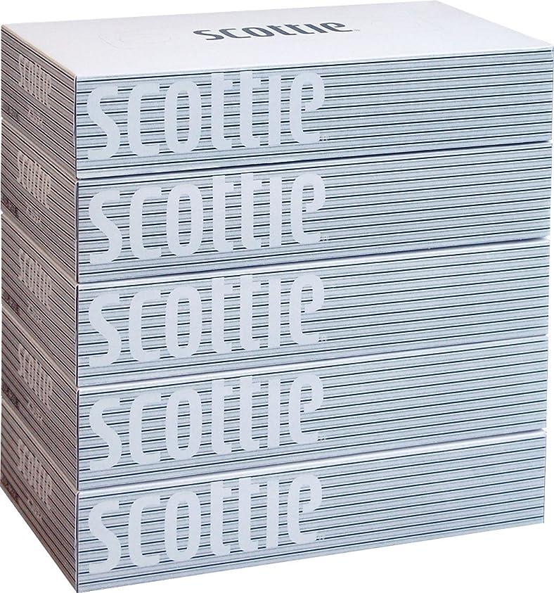 夜空白希少性スコッティ ティシュー 400枚(200組) 5箱 ホワイトパッケージ