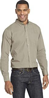 Van Heusen Men's Wrinkle Free Poplin Long Sleeve Button Down Shirt