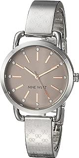 Nine West NW2103TPSB Reloj Análogo para Mujer, color Marrón/Plata
