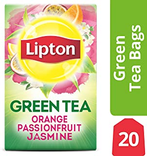 Lipton Green Tea Bags, Orange Passionfruit Jasmine, 20 ct (Pack of 6)