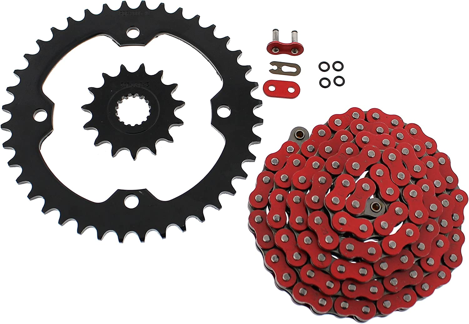 2009-2013 fits Yamaha YFZ450R YFZ 5% OFF 450R Over item handling Sp O-Ring Chain Black Red