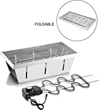 DAUNTLESS 304 Stainless Steel Food Grade Portable Charcoal Barbecue Grills, Foldable Grill Smoker Box for Outdoor Grill, Camping Grill and Backyard Grill (Electric Grill)