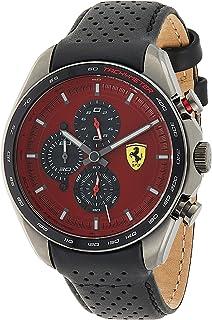 Ferrari Unisex-Adult Quartz Watch, Analog Display and Leather Strap 830650