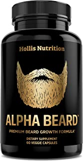 Best Alpha Beard Growth Vitamins | Biotin 10,000mcg, Patented OptiMSM®, goMCT®, Collagen | Beard Growth Supplement for Men | for All Hair Types | Grow Fuller, Thicker, Healthier Facial Hair - 60 Capsules Review
