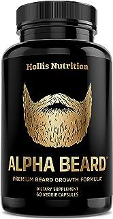 Alpha Beard Growth Vitamins | Biotin 10,000mcg, Patented OptiMSM®, goMCT®, Collagen | Beard Growth Supplement for Men | fo...