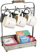 4 Haken SLHP Tassenhalter Nordic Kaffeetasse Regal Vintage Metall St/änder f/ür 6 Tassen Untertasse L/öffel Sets Tee-Set Display Stand