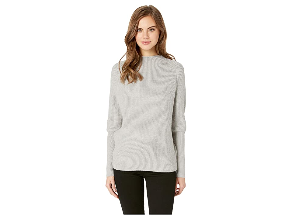Jack by BB Dakota Sugar Gider Rib Stitch Sweater (Light Heather Grey) Women