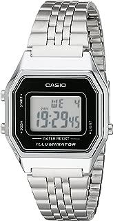 Ladies Mid-Size Silver Tone Digital Retro Watch LA-680WA-1DF