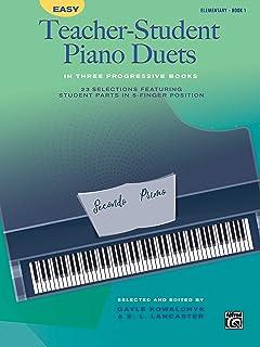 Easy Teacher-Student Piano Duets in Three Progressive Books,