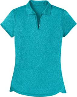 Women's Ladies Moisture Wicking Athletic Golf Polo Shirts Tops & Tees