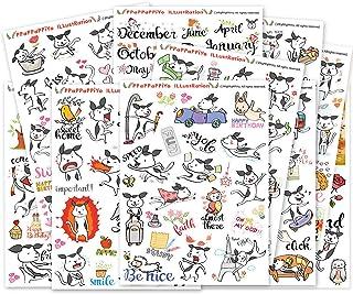 Happy Dog Planner Sticker / 10 Sheets Size 4 X 5.5 Inch