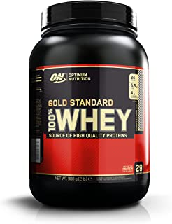 OPTIMUM NUTRITION GOLD STANDARD 100% Whey Protein Powder, Cookies and Cream, 32 Ounce