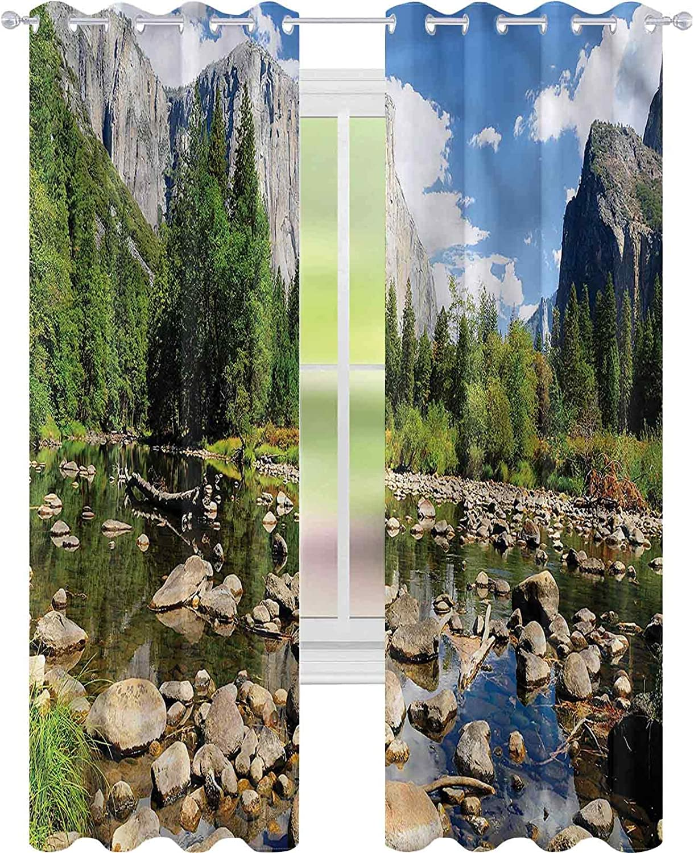 Window specialty shop Max 88% OFF Curtain Drape Yosemite Forest x L72 Bl River W42