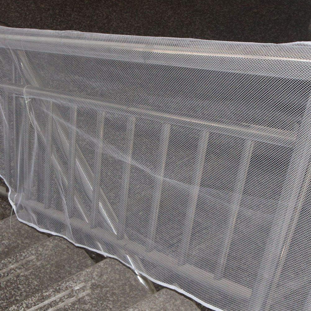 3 Metros Mascotas, Protector de barandilla para escaleras de Mascotas para ni/ños con Paquete de Cuerda para Atar para ni/ños ciciglow Red de Seguridad para ni/ños 3 Meters Brown