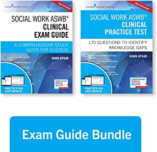 Social Work ASWB Clinical Exam Guide and Practice Test, Second Edition Set - Includes a Comprehensive Study Guide and LCSW Practice Test Book with 170 Questions, Free Mobile and Web Access Included