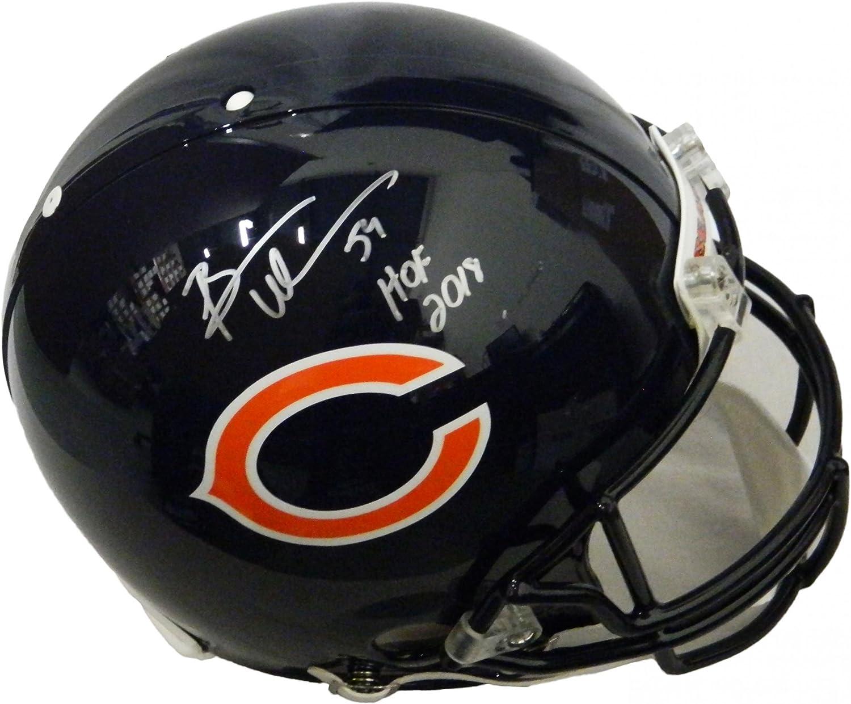 Brian Urlacher Signed Helmet  Riddell Authentic Proline w HOF 2018  Autographed NFL Helmets