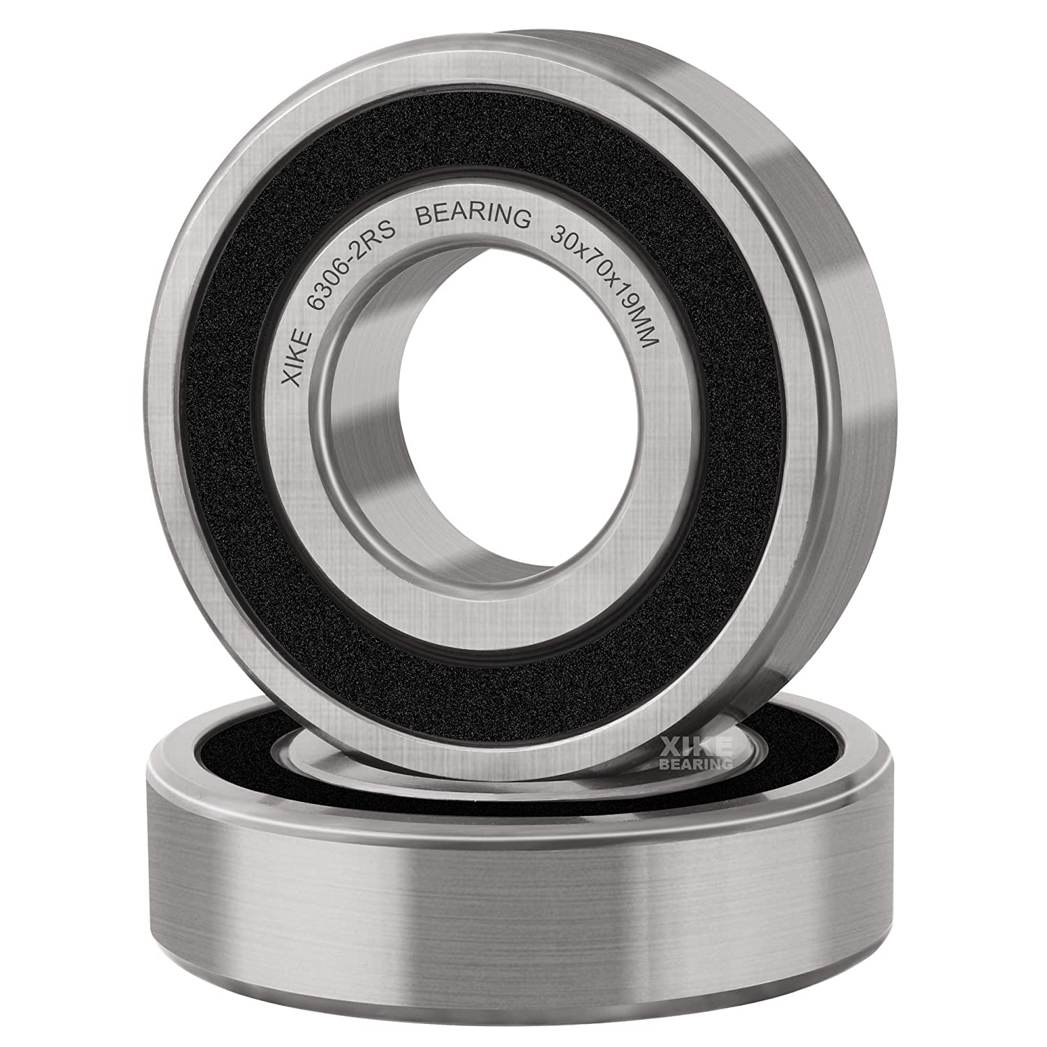 XiKe 6306-2RSx2Pcs Double In stock Seal Large discharge sale and Pre-Lubricated B Groove Deep