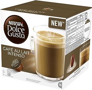 NESCAFÉ Dolce Gusto Dosettes De Café Lait De Intenso, 16 Capsules (Pack De 3 - Total 48 Des Capsules, Des 48 Portions)