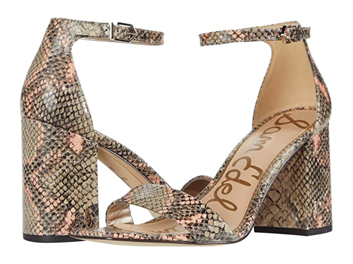 Sam Edelman  Daniella (Mesa Nude/Peach Multi Exotic Snake Print Leather) Womens Shoes