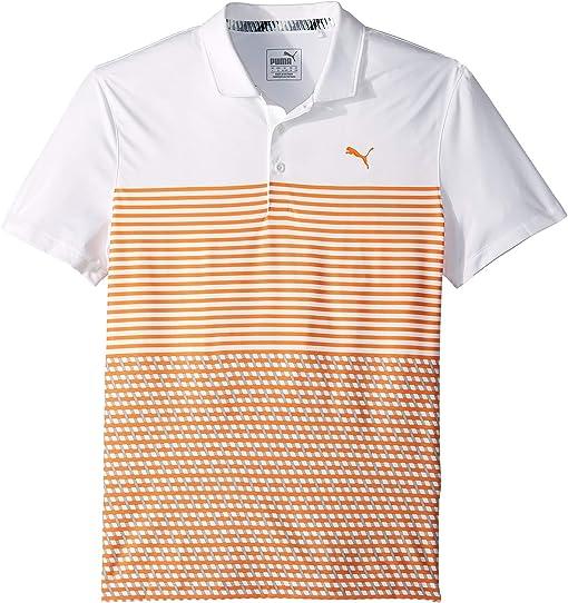 Bright White/Vibrant Orange