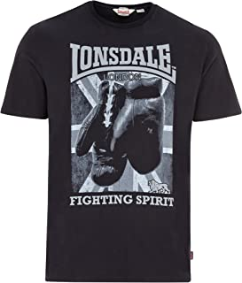 Men´s Regular Fit Premium Black T-Shirt Boxing Fighting Spirit Newtown