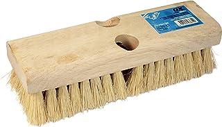 OX Tools Pro Acid Deck Brush, Tapered & Threaded Holes, White Tampico Fiber