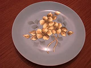 Arzberg Small Decorative Plate Blue with Gold Flowers Made in Germany