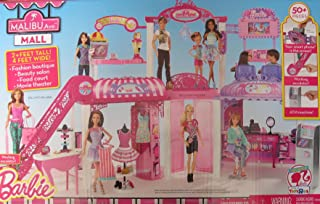 BARBIE Malibu Ave SHOPPING MALL 50+ Pieces PLAYSET w Working ESCALATOR, FASHION BOUTIQUE, HAIR SALON, FOOD COURT & THEATER - MALL is 2+ FEET High x 4 FEET Wide TOYSRUS EXCLUSIVE (2014)