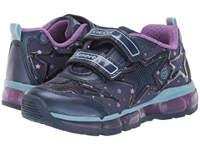 Geox Kids Jr Android 24 (Little Kid) (Blue/Purple) Girls Shoes