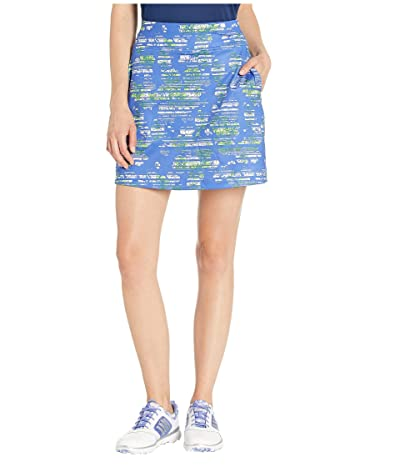 Callaway 18 Knit All Over Printed Stainglass Floral Skort (Amparo Blue) Women